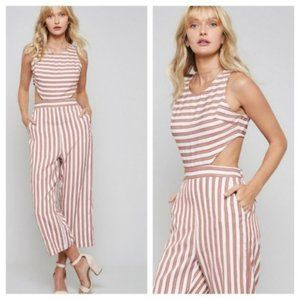 'Weekend in Miami' Cutout Striped Jumpsuit